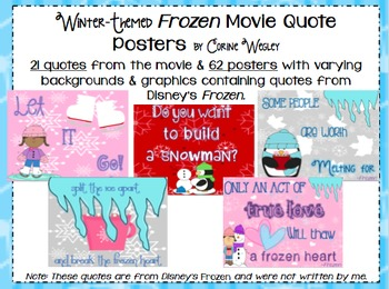 Frozen Movie Quote Posters - Winter Themed