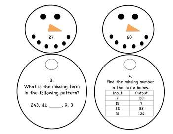 """Frozen"" Number Patterns Match-Up ~ Center Activity"