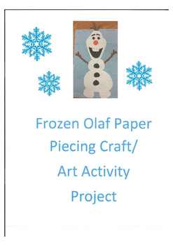 Frozen Olaf Paper Piecing Art Activity Project