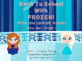 Frozen Pre-Reader Packet: Phonemic Awareness, Following Directions, Sight Words
