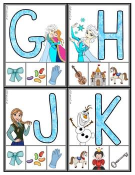 Frozen: Phonics Self-Correcting Clip Cards