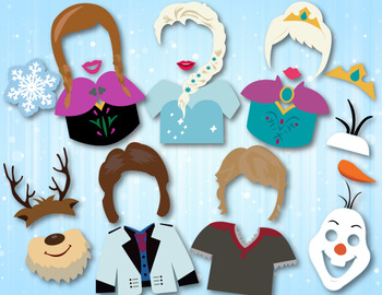 Frozen Photo Booth Props Disney Frozen Princess Party Photobooth Props 0182