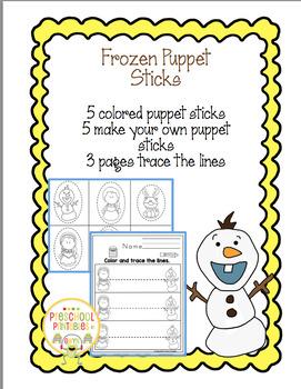Frozen Puppet Sticks