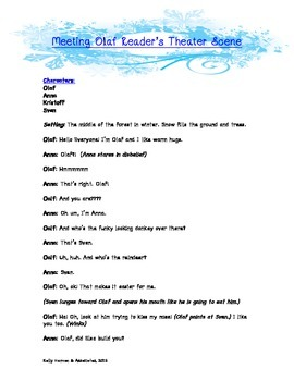 Frozen Reader's Theater Script