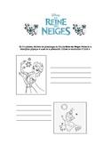 """""""Frozen"""" (Reine des Neiges) character description sheet"""