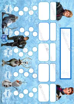 Frozen Reward Chart - Boys