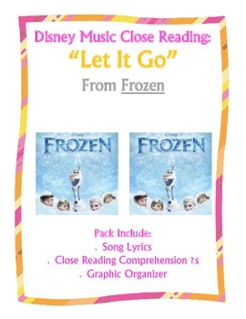 """Frozen"" Song Lyric Close Reading Questions"