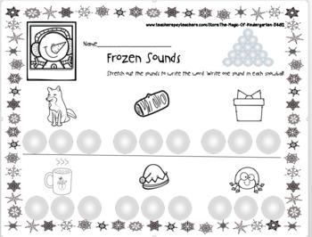 Frozen Sounds~Writing CVC Words Worksheet
