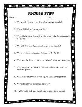 Frozen Stiff Questions