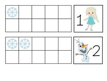 Frozen Ten Frames 0-20