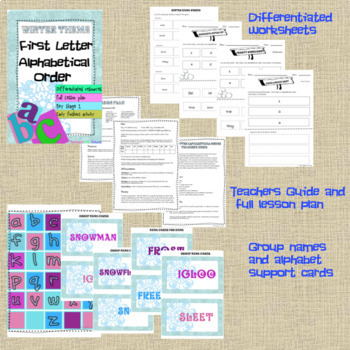 Winter Theme First letter Alphabetical Order