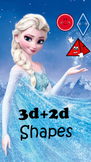Frozen Themed: 3D and 2D Shape Word Posters with Ana and Elsa