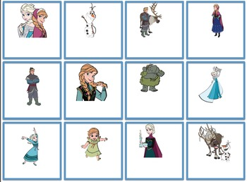 Frozen Themed Blank Cards