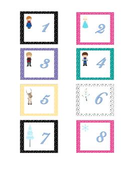 Frozen Themed Calendar Set