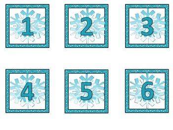 Frozen / Snow Themed Calendar Set