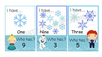 Frozen Themed Card Game  I have.....Who has? Numbers 1-10