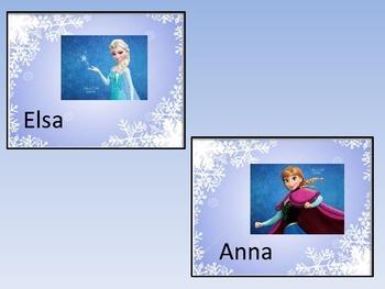Frozen Themed Character Trait Center