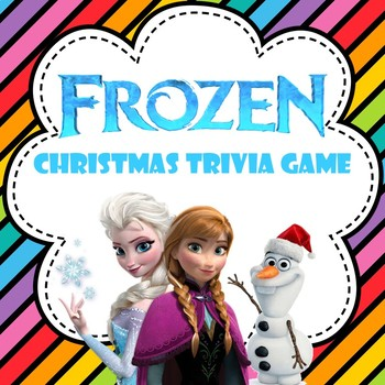 Frozen-Themed Christmas Trivia Game