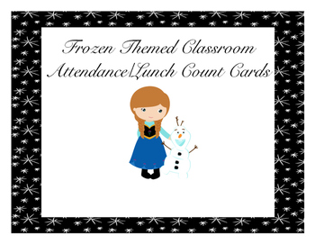 Frozen Themed Classroom Attendance/Lunch Count Cards