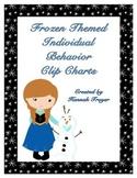 Frozen Themed Individual Behavior Clip Charts