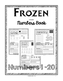Frozen Numbers from 1-20 printing book