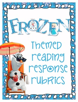 Frozen Themed Reading Response and Checklist