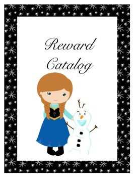 Frozen Themed Reward Catalog