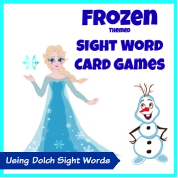 Frozen Themed Sight Word Card Games - Dolch Sight Words