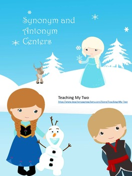 Frozen Themed Synonym and Antonym Center Pack