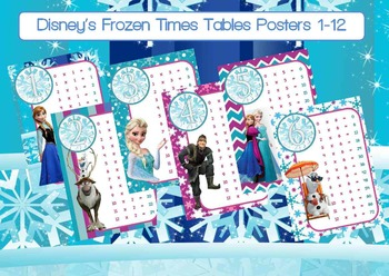 Frozen Times Tables/Multiplication Chart/Posters