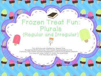 Frozen Treat Fun: Plurals (Regular and Irregular)