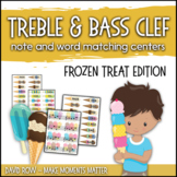 Treble Clef & Bass Clef Note Matching Centers - Frozen Tre