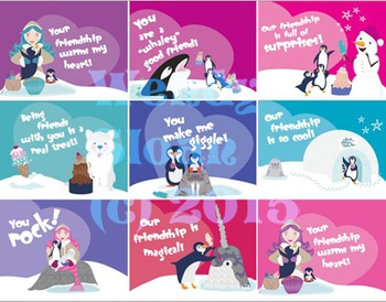 Frozen Treats Valentines Day Cards and Printables Set