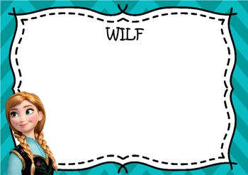 Frozen WALT, WILF and TIB Learning Objective Posters