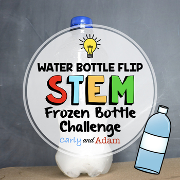 Winter Frozen Water Bottle Flipping STEM Activity
