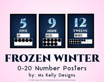 Frozen Winter 0-20 Number Posters