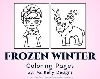 Frozen Winter 8 Coloring Pages Set