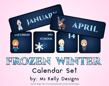 Frozen Winter Classroom Calendar Set