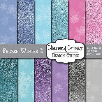 Frozen Winter Digital Paper 1382