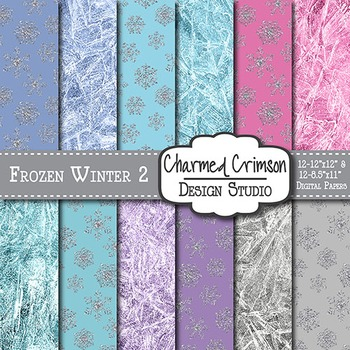 Frozen Winter Digital Paper 1383