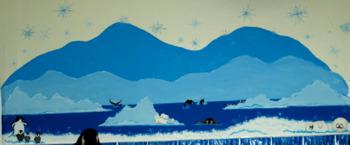 Frozen Winter Landscape Art Lesson
