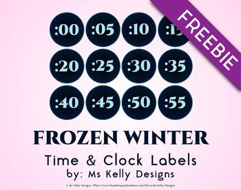 Frozen Winter Time & Clock Labels