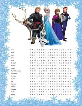 Resource image in frozen word searches