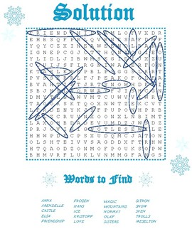 Frozen Word Search