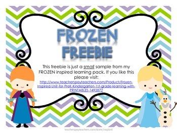 Frozen inspired FREEBIE