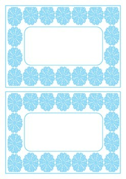 'Frozen'-inspired Labels and Desk Nameplates