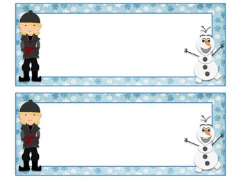 Frozen inspired desk name tags