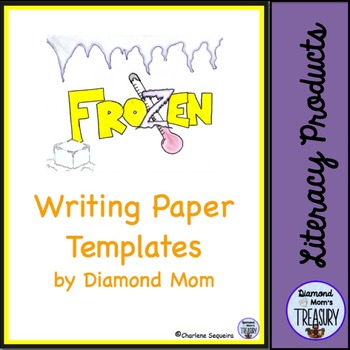 Frozen writing paper templates