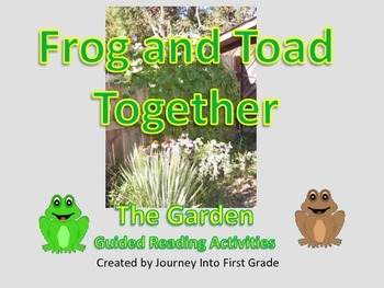 Frog and Toad Together The Garden Guided Reading Activities Journeys Unit 5