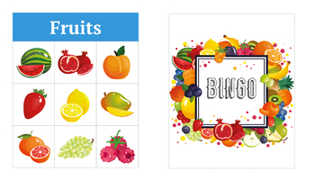 Fruits 3x3 Bingo